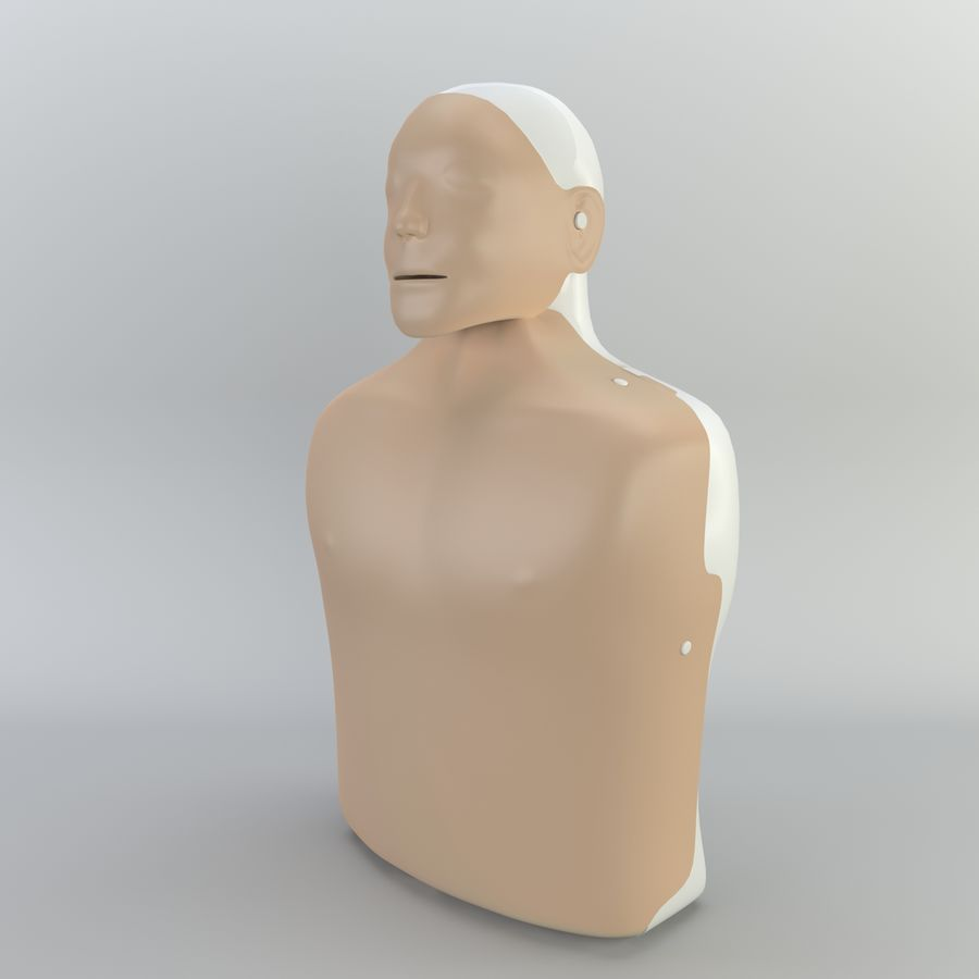 Resuscitation Doll royalty-free 3d model - Preview no. 1