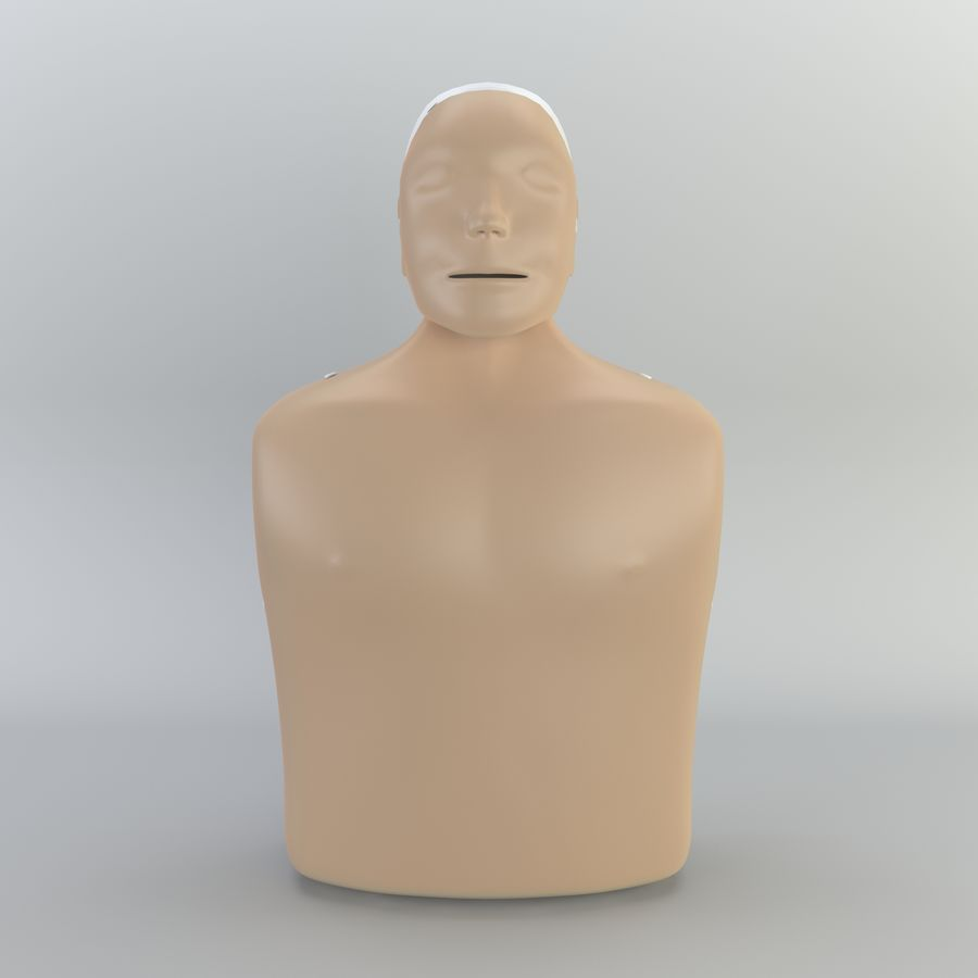 Resuscitation Doll royalty-free 3d model - Preview no. 3