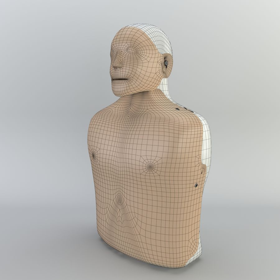 Resuscitation Doll royalty-free 3d model - Preview no. 2