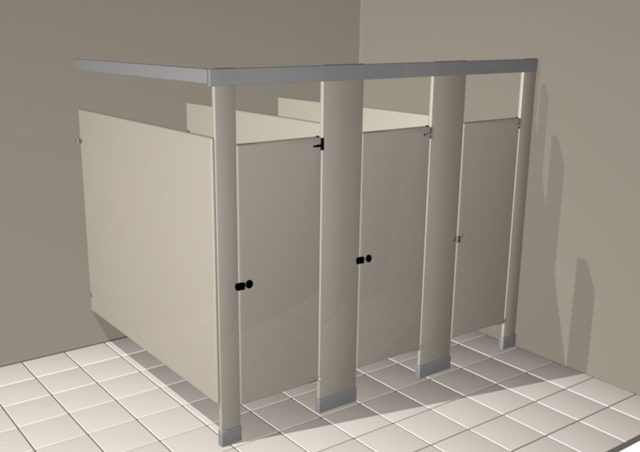 WC-Trennwand 3D-Modell $15 - .unknown .c4d .3ds .fbx .obj ...