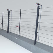 Electric Fence 3d model