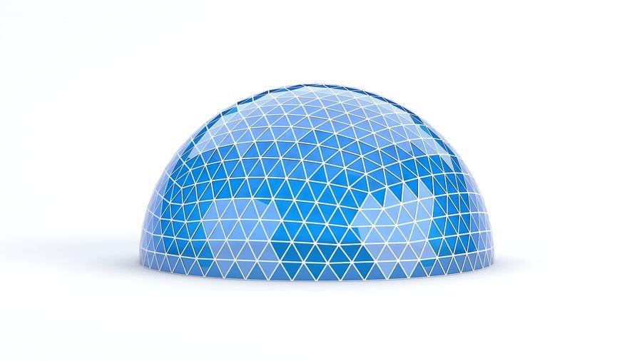 Geodätische große Kuppel royalty-free 3d model - Preview no. 1