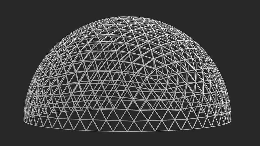 Geodätische große Kuppel royalty-free 3d model - Preview no. 12