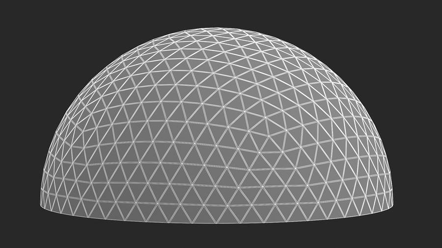 Geodätische große Kuppel royalty-free 3d model - Preview no. 11