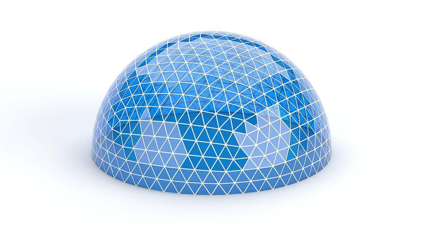 Geodätische große Kuppel royalty-free 3d model - Preview no. 6
