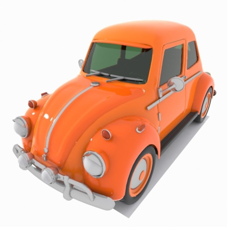 Toon Car royalty-free 3d model - Preview no. 1