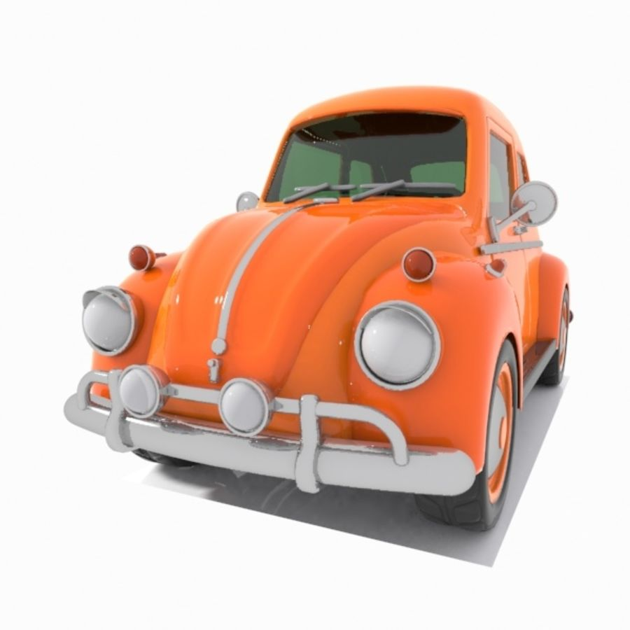 Toon Car royalty-free 3d model - Preview no. 5