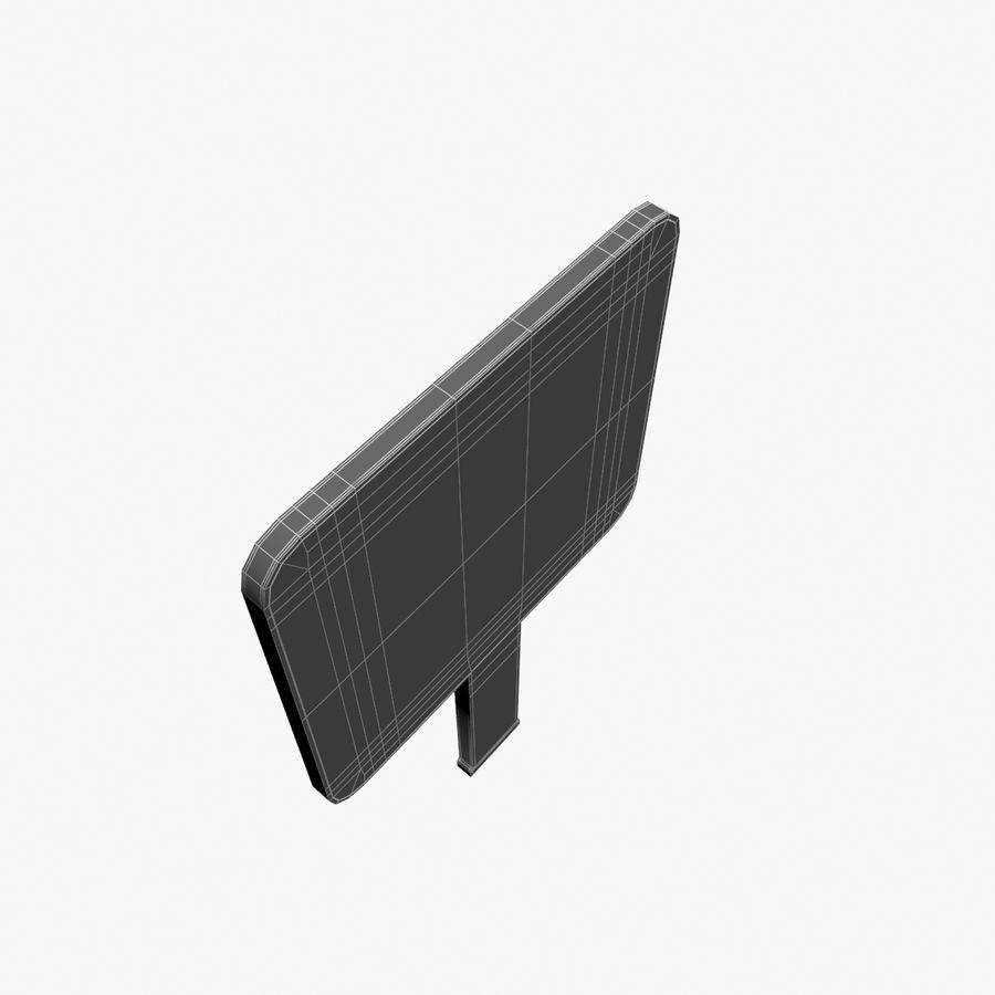 Vit panel tecken royalty-free 3d model - Preview no. 12
