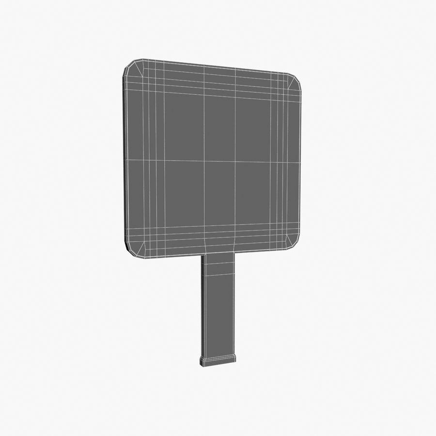 Vit panel tecken royalty-free 3d model - Preview no. 10
