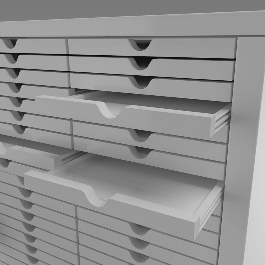 Office Cabinet royalty-free 3d model - Preview no. 3