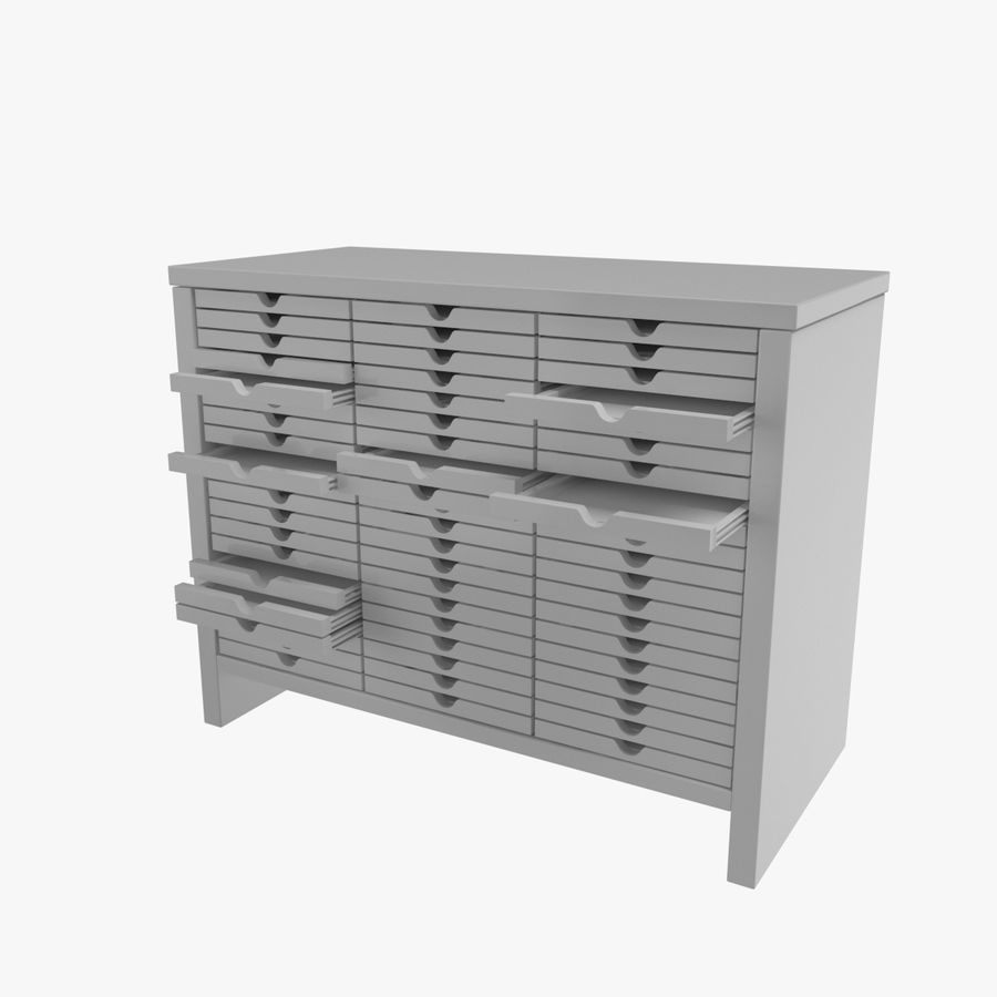 Office Cabinet royalty-free 3d model - Preview no. 2