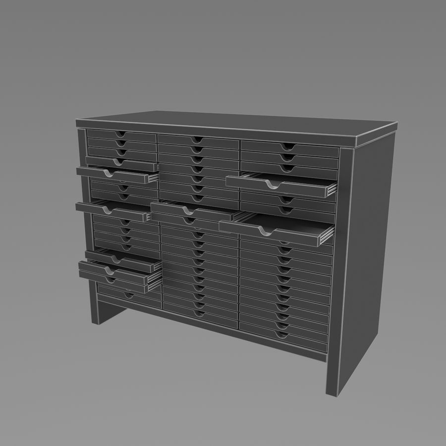 Office Cabinet royalty-free 3d model - Preview no. 5