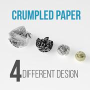 弄皱的纸 3d model