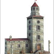 Edificio de la torre de vigilancia modelo 3d