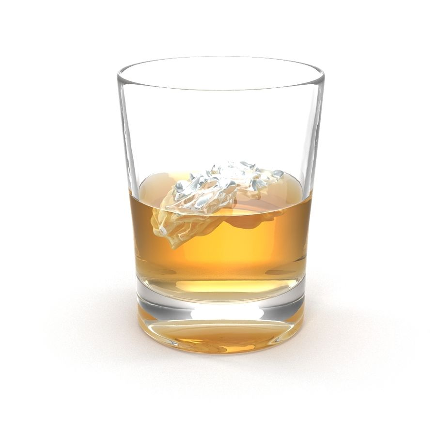 Whiskey Glass royalty-free 3d model - Preview no. 2