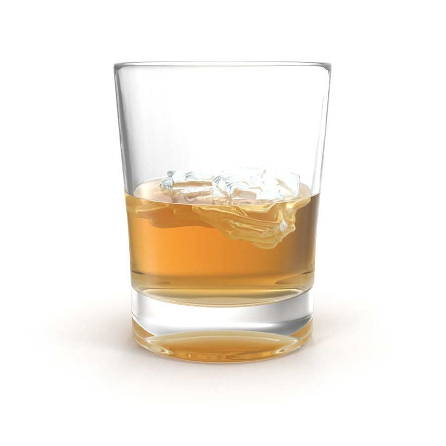 Whiskey Glass royalty-free 3d model - Preview no. 5