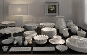 Luxurious Porcelain set dinnerware dishware plate collection 3d model