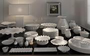 Collection d'assiettes à vaisselle de luxe en porcelaine 3d model