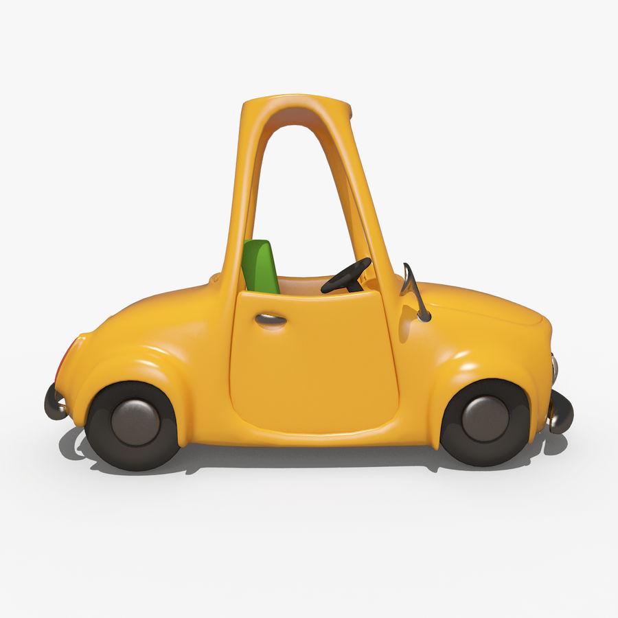 漫画車-タクシー-タクシー royalty-free 3d model - Preview no. 2