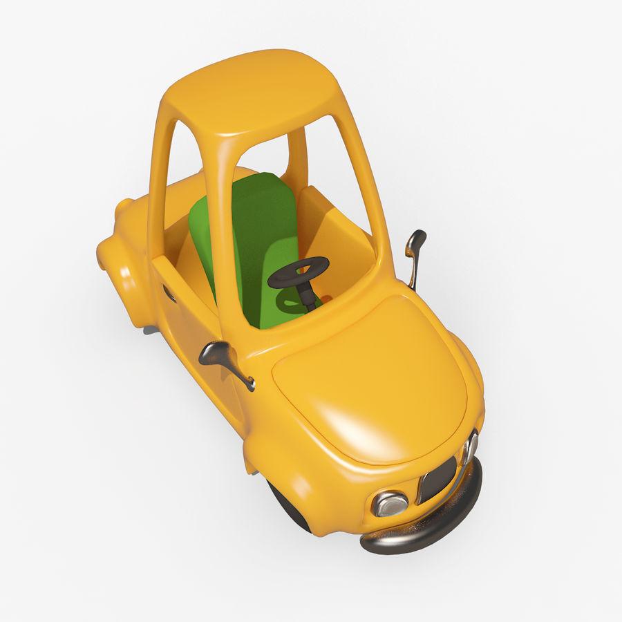 漫画車-タクシー-タクシー royalty-free 3d model - Preview no. 4