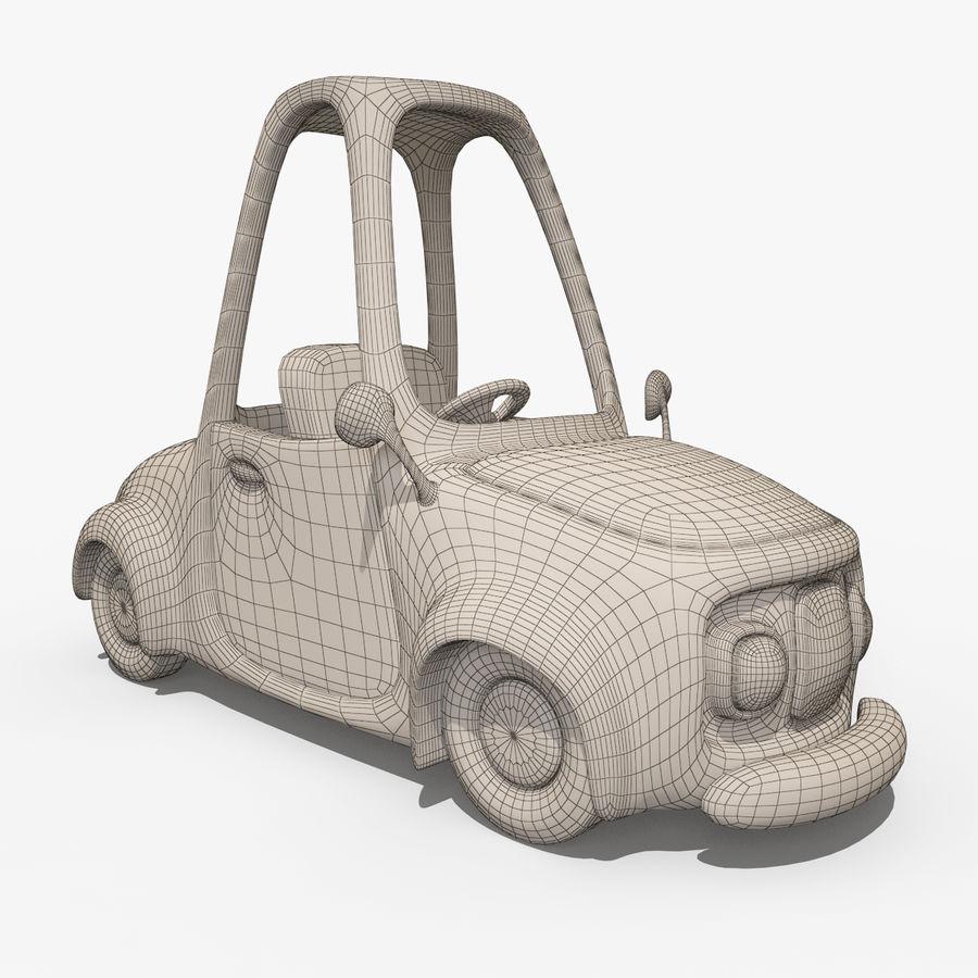 漫画車-タクシー-タクシー royalty-free 3d model - Preview no. 6