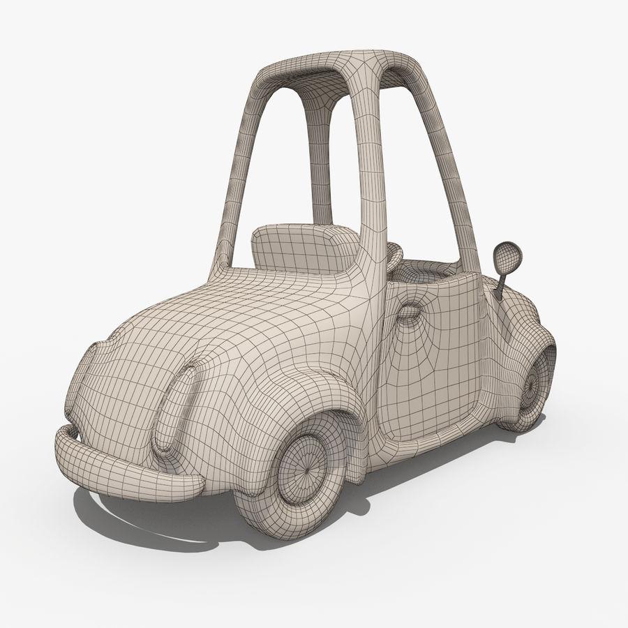 漫画車-タクシー-タクシー royalty-free 3d model - Preview no. 7