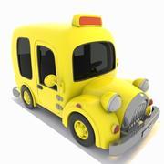 Toon Taxi 3d model