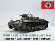 Panzer I Ausf. B Low poly 3d model