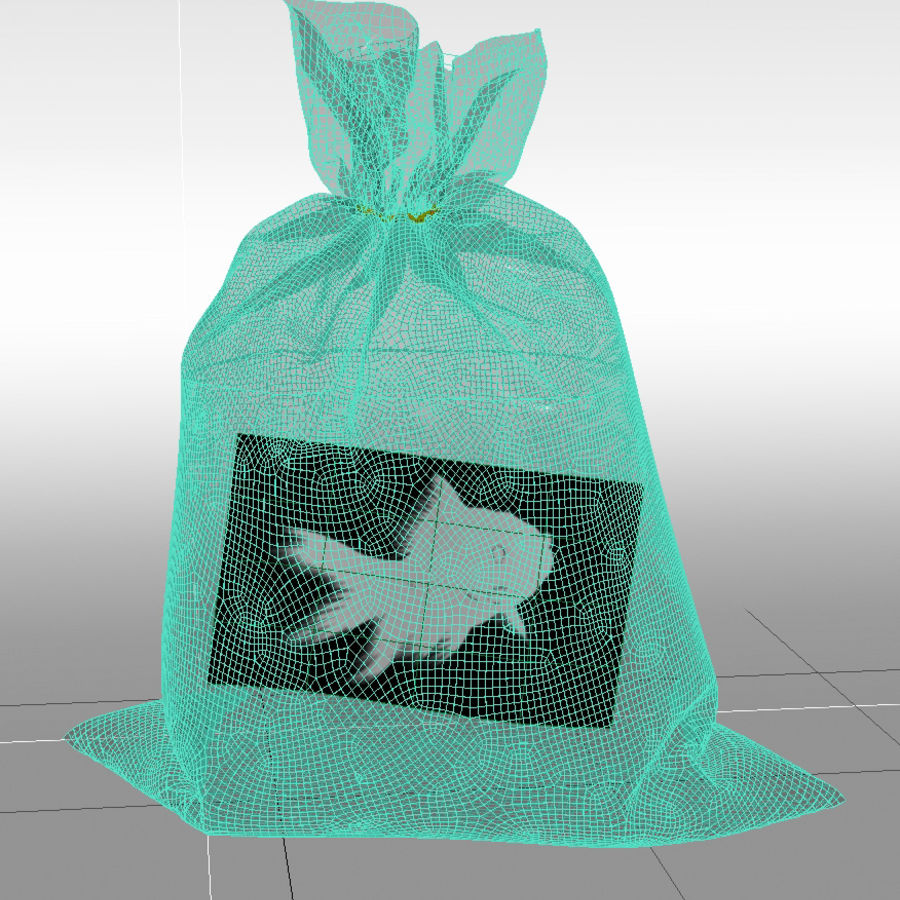 золотая рыбка royalty-free 3d model - Preview no. 4