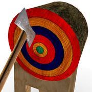 Axe on target 3d model