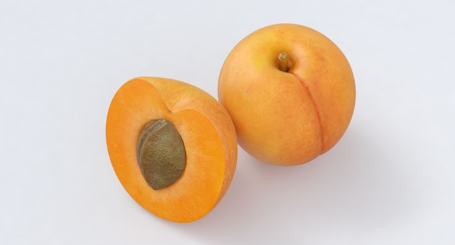 Apricot Fruit royalty-free 3d model - Preview no. 3