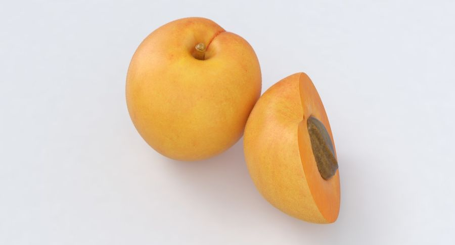 Apricot Fruit royalty-free 3d model - Preview no. 4