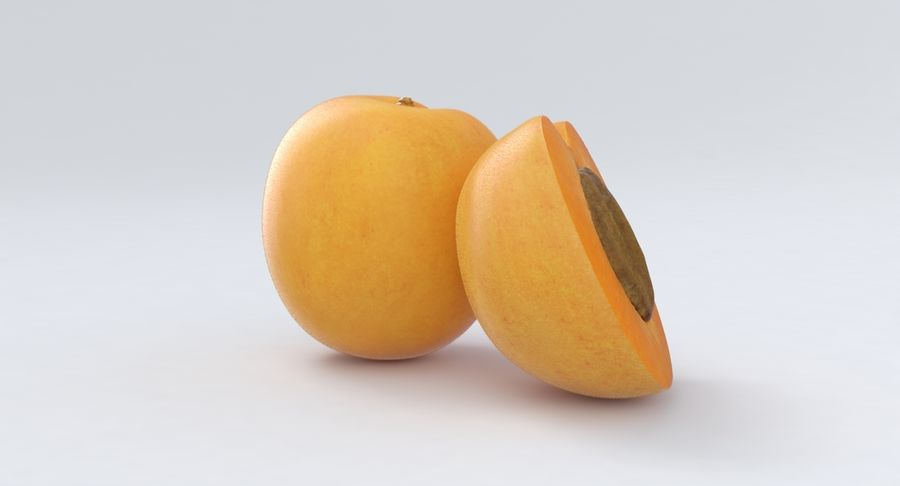 Apricot Fruit royalty-free 3d model - Preview no. 5