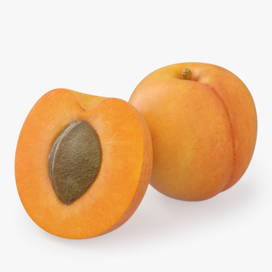 Apricot Fruit royalty-free 3d model - Preview no. 1