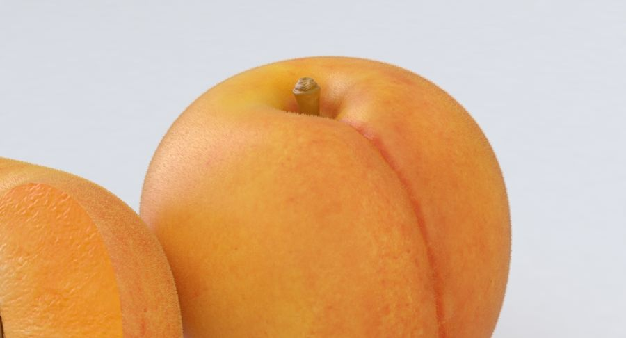 Apricot Fruit royalty-free 3d model - Preview no. 6