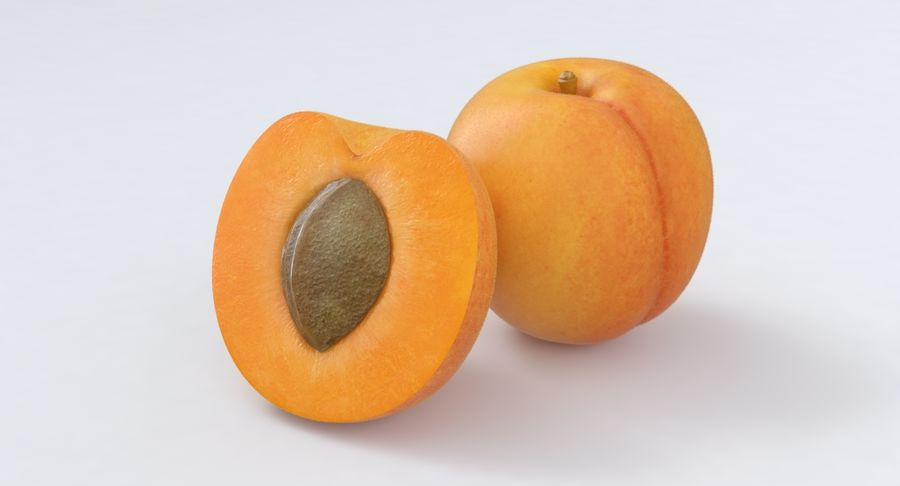 Apricot Fruit royalty-free 3d model - Preview no. 2