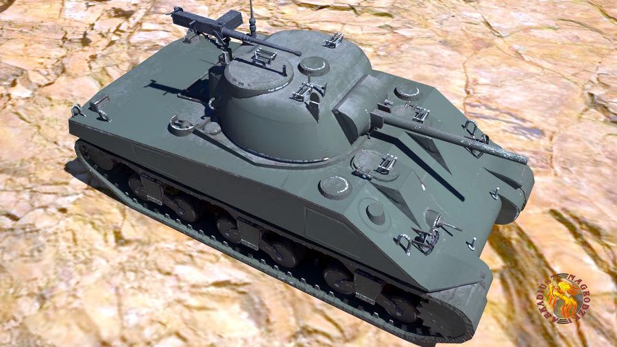 Sherman M4 royalty-free 3d model - Preview no. 1