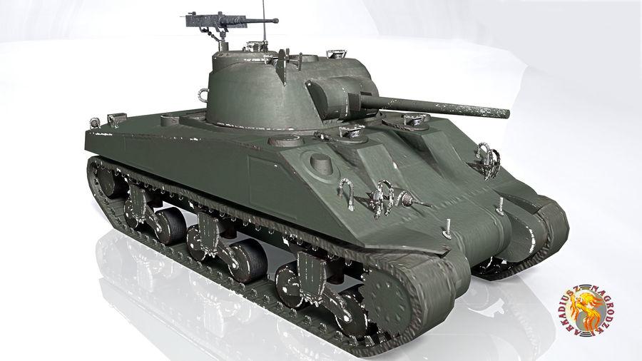 Sherman M4 royalty-free 3d model - Preview no. 4