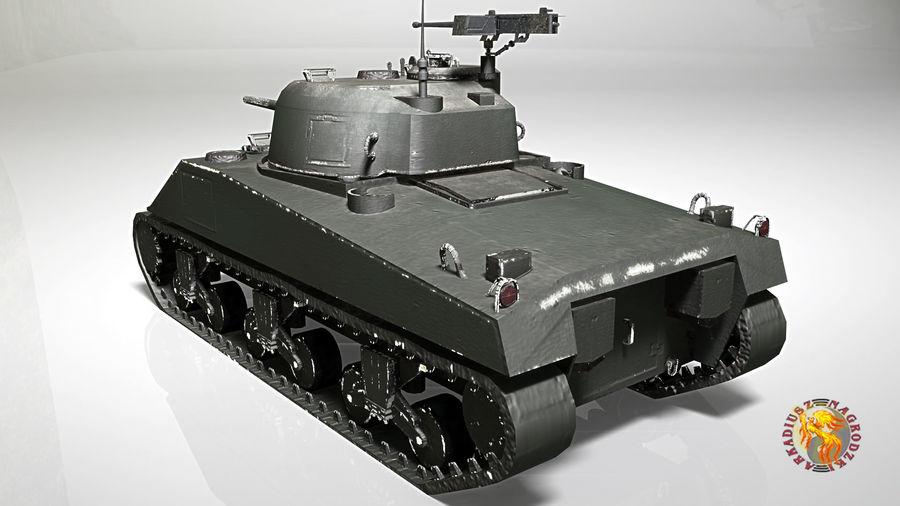 Sherman M4 royalty-free 3d model - Preview no. 5