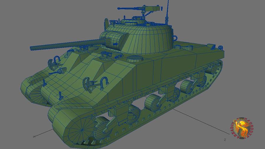 Sherman M4 royalty-free 3d model - Preview no. 3