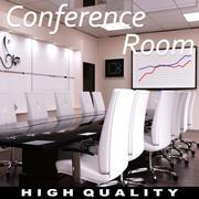 Cena moderna da sala de conferências 3d model