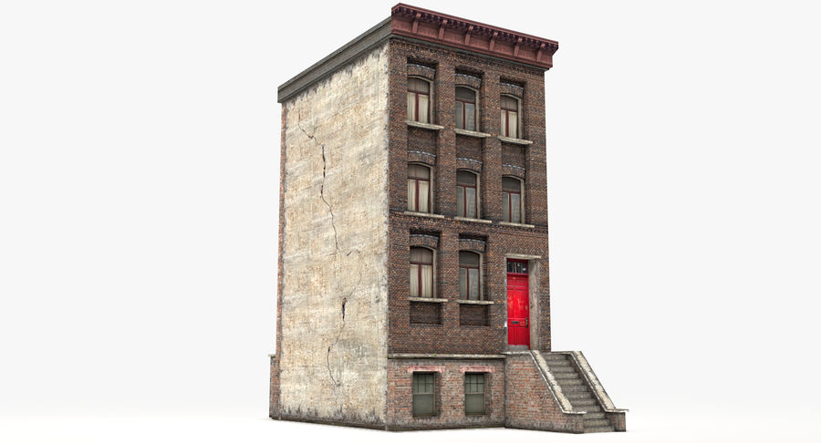Townhouse 40 royalty-free 3d model - Preview no. 4