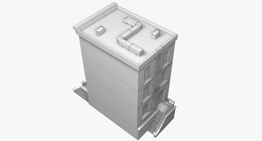 Townhouse 40 royalty-free 3d model - Preview no. 9
