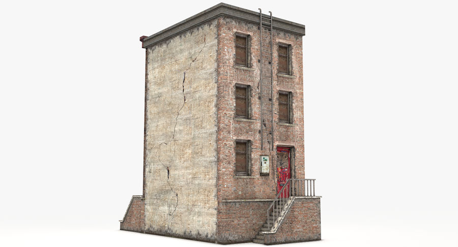 Townhouse 40 royalty-free 3d model - Preview no. 6
