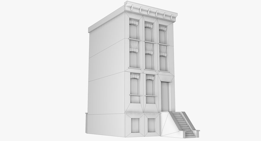 Townhouse 40 royalty-free 3d model - Preview no. 8