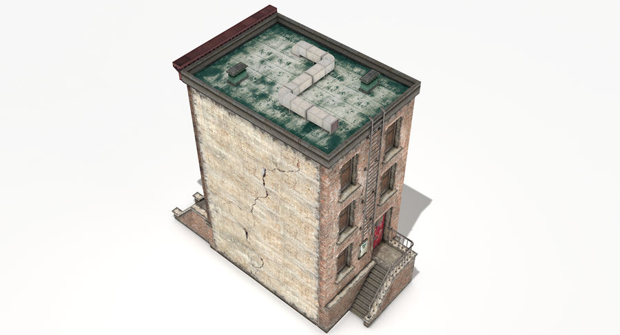 Townhouse 40 royalty-free 3d model - Preview no. 5