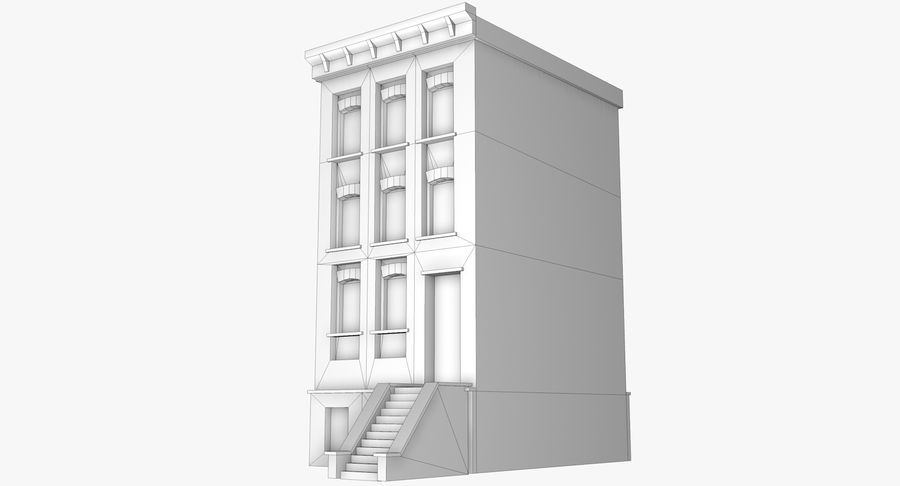 Townhouse 40 royalty-free 3d model - Preview no. 7
