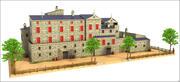Хостел в сельской местности 3d model
