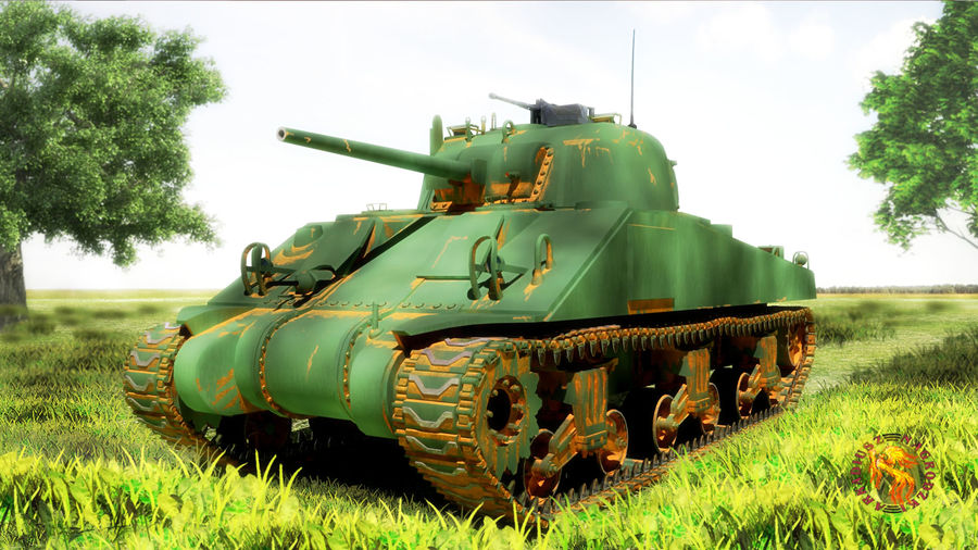 sherman M4 HP royalty-free 3d model - Preview no. 1
