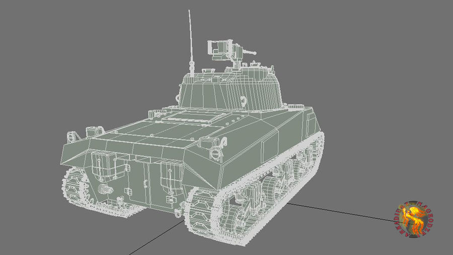 sherman M4 HP royalty-free 3d model - Preview no. 5